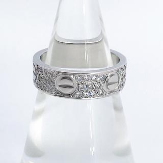 Cartier - 【仕上済】カルティエ ラブリング WG ダイヤ 9号 レディース リング 指輪