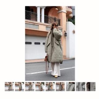 ルームサンマルロクコンテンポラリー(room306 CONTEMPORARY)のroom306contemporary Quilting Design Coat(ロングコート)