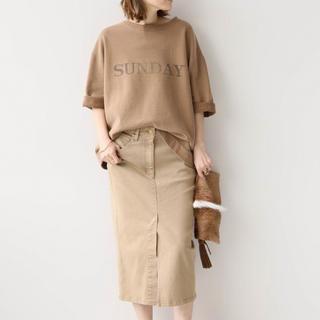 DEUXIEME CLASSE - Deuxieme Classe  製品染めタイトスカート  ベージュ 36