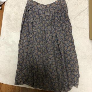 カルバンクライン(Calvin Klein)のcavin klein  silk スカート(ひざ丈スカート)