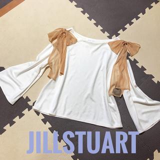 ジルスチュアート(JILLSTUART)のJILLSTUART♡シースルーリボンカットソー(カットソー(長袖/七分))