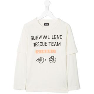 ディーゼル(DIESEL)のdb8460 DIESEL ディーゼル キッズ 重ね着風 ロゴプリント Tシャツ(Tシャツ/カットソー)