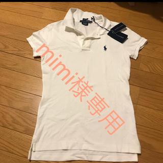 Ralph Lauren - 未使用 新品 タグ付 ラルフローレン ポロシャツ ホワイト 白レディース ゴルフ