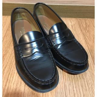 ハルタ(HARUTA)のHARUTAローファー 黒 25.5cm  EE(ローファー/革靴)