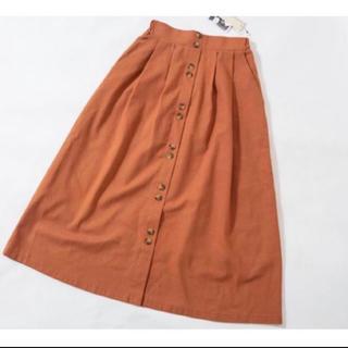 シマムラ(しまむら)のしまむら プチプラのあや スカート オレンジ(ロングスカート)