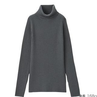 MUJI (無印良品) - 無印良品 首のチクチクをおさえた洗えるワイドリブ編みタートルネック