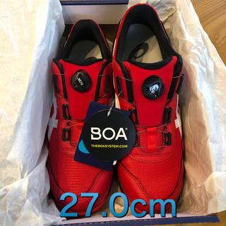 アシックス(asics)の《新品》asics安全靴cp209BOA 602(赤×白)27.0cm(その他)
