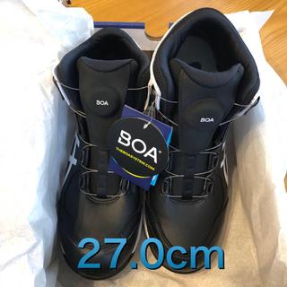 アシックス(asics)の《新品》asics安全靴cp304BOA 001(黒×白)27.0cm(その他)