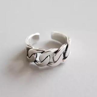 トゥデイフル(TODAYFUL)のシルバーリング 指輪 チェーンリング オープンリング 新品(リング(指輪))