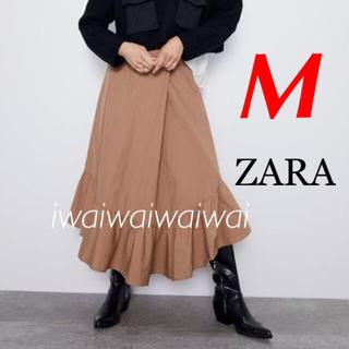 ZARA - 新品 完売品 ZARA M 裾アシンメトリー フリル スカート C