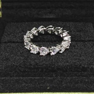 HARRY WINSTON - 最高級合成ダイヤモンド/SONAダイヤモンド/ハートシェイプリング
