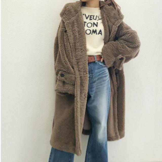 GYDA(ジェイダ)のGYDA 新品 ボアダッフルコート レディースのジャケット/アウター(ダッフルコート)の商品写真
