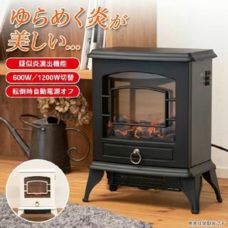 セラミックヒーター だんろ・暖炉 暖炉型 ストーブ 電気