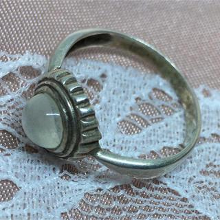 天然石リングSILVER925 シルバー925 13号指輪ムーンストーンギフト(リング(指輪))