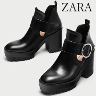 ZARA - Zara トラックソールブーツ ショートブーツ ブーティー