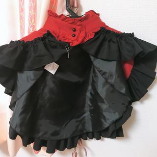 MARBLE 赤黒 ケープ マント(ポンチョ)