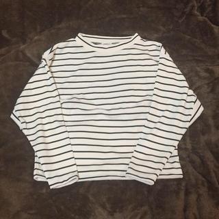 ジーユー(GU)のg.u ハイネックボーダーシャツ(Tシャツ(長袖/七分))