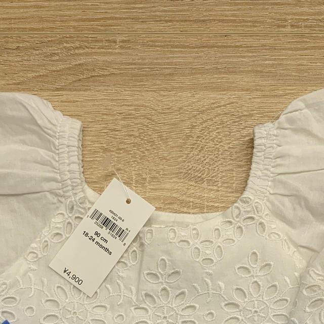 babyGAP(ベビーギャップ)の新品☆babygap☆アイレットホワイトワンピース☆90㎝ キッズ/ベビー/マタニティのキッズ服女の子用(90cm~)(ワンピース)の商品写真