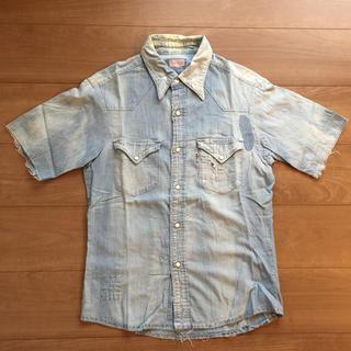 ブルーブルー(BLUE BLUE)のBLUE BLUE☆シャンブレー リメイクシャツ(シャツ)