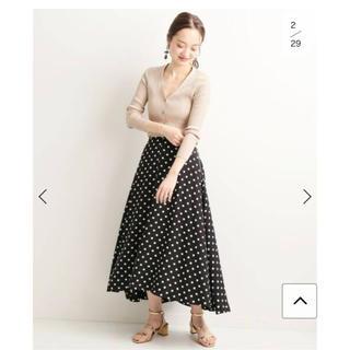 IENA - VERMEIL par iena  ドットイレギュラーヘムフレアスカート