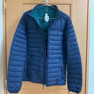 GAP - 美品*GAPメンズ ネイビー ×グリーン薄地ダウンジャケットコート