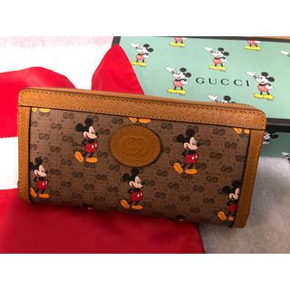 Gucci - GUCCI グッチ ディズニーミッキーコラボ 長財布 ラウンドファスナー