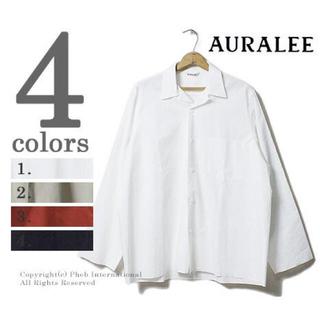 COMOLI - AURALEE SELVEDGE WEATHER CLOTH SHIRTS