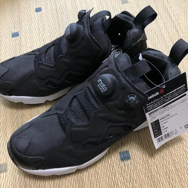 Reebok(リーボック)のReebok インスタポンプフューリーOG ブラック 黒 レディースの靴/シューズ(スニーカー)の商品写真