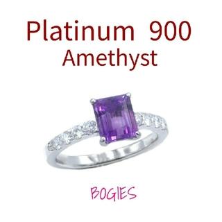 アメシスト リング ダイヤ プラチナ pt 指輪 2月誕生石 おすすめ品!(リング(指輪))