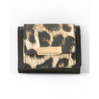 財布 三つ折り財布 レディース ミニ財布 ヒョウ柄(折り財布)