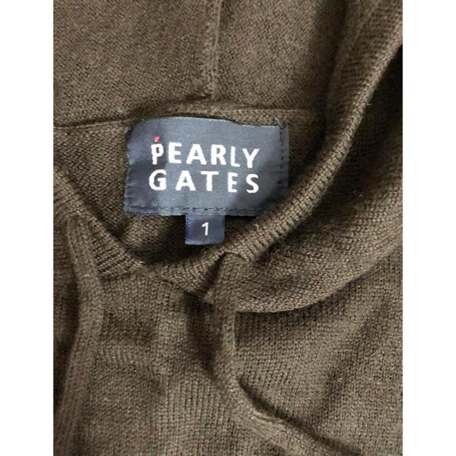 PEARLY GATES(パーリーゲイツ)のパーリーゲイツ ニットパーカー スポーツ/アウトドアのゴルフ(ウエア)の商品写真