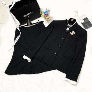 CHANEL - 美品 シャネル ツイード  リトルブラック スーツ セットアップ