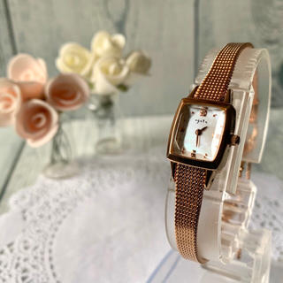 アガット(agete)の【電池交換済み】agete アガット 腕時計 0.02ct ピンクゴールド(腕時計)
