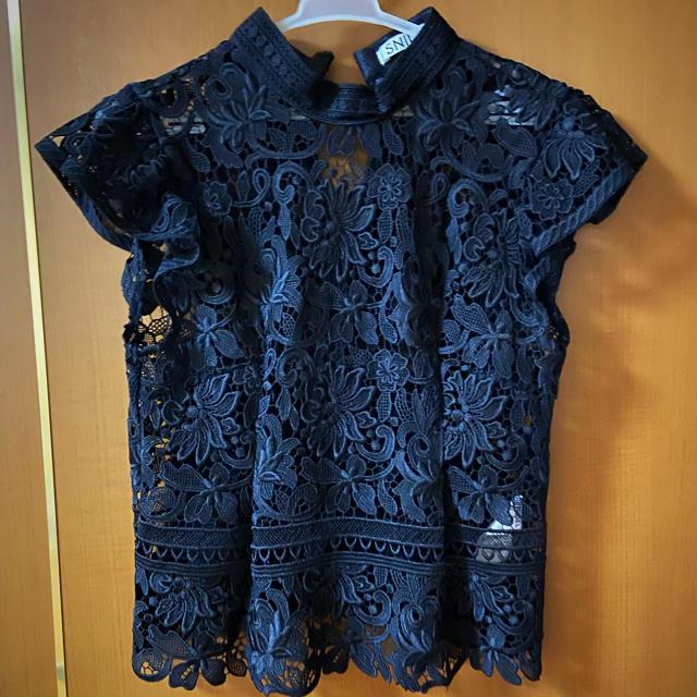 snidel(スナイデル)のスナイデル レースノースリーブブラウス レディースのトップス(シャツ/ブラウス(半袖/袖なし))の商品写真