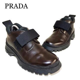 PRADA - 【PRADA】約22.5cm レディース 革靴 レザー ベルクロ 女 皮