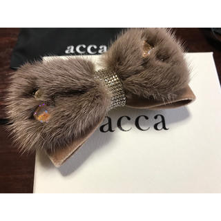 acca - acca♡ミンクファー リボンバレッタ♡