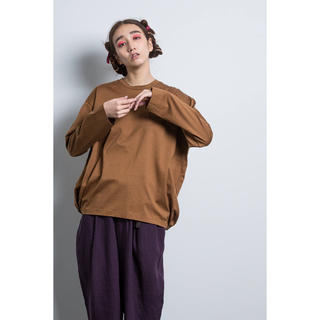 ドゥルカマラ(Dulcamara)のDulcamara バルーンロンT CINNAMON(Tシャツ/カットソー(七分/長袖))