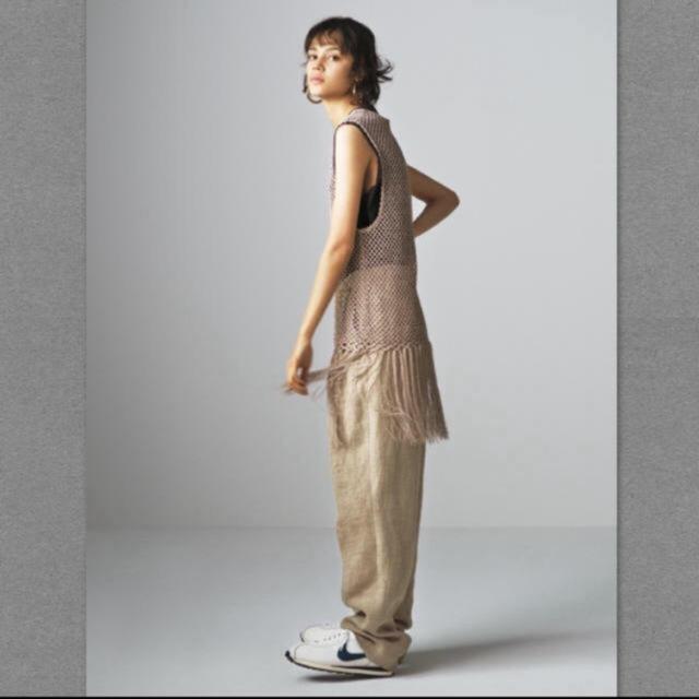 BEAUTY&YOUTH UNITED ARROWS(ビューティアンドユースユナイテッドアローズ)のroku 6 フリンジメッシュタンクトップ レディースのトップス(チュニック)の商品写真