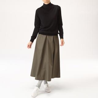 MUJI (無印良品) - 洗える天竺編みハイネックセーター ブラック