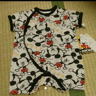 Disney - ミッキー 半袖ロンパース