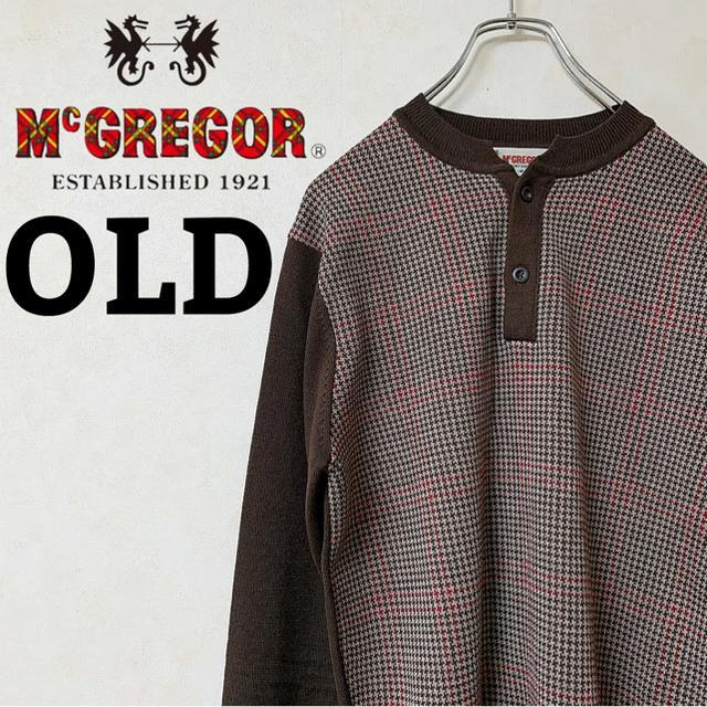 McGREGOR(マックレガー)のニット 千鳥柄 McGREGOR マックレガー ボタン 90s 【SALE】 メンズのトップス(ニット/セーター)の商品写真