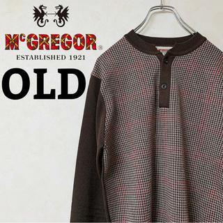McGREGOR - ニット 千鳥柄 McGREGOR マックレガー ボタン 90s 【SALE】