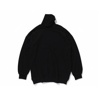 ワンエルディーケーセレクト(1LDK SELECT)の【新品】久米繊維 BIGシリーズ タートルネックスウェット ブラック(スウェット)