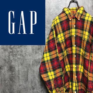 GAP - 【激レア】オールドギャップGAP☆Wポケットレトロタータンチェックシャツ 90s