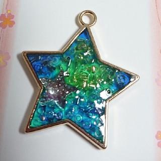 星in星ブルーネックレス(ネックレス)