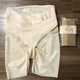 Wacoal - マタニティ ①ワコール 妊婦帯 パンツタイプ ②無印良品 着圧ストッキング 1足