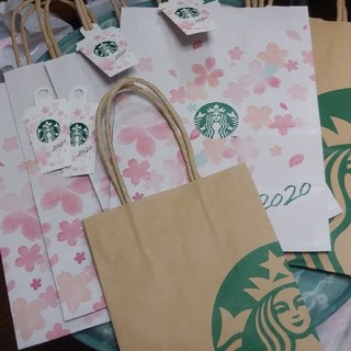 Starbucks Coffee - スタバショッパー 桜4枚 通常大小1枚