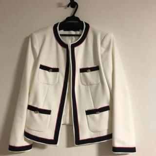 ZARA - ZARA⭐︎ ザラ ノーカラージャケット 白 卒業式、入学式にも♡