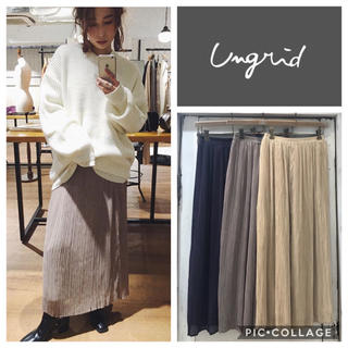 Ungrid - Ungrid**ランダムプリーツマキシスカート