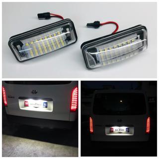 ハチロク BRZ レヴォーグ インプレッサ 専用設計 高品質 LED ナンバー灯